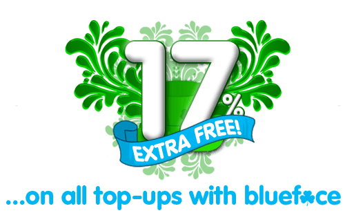 Get FREE Credit this St. Patrick's Day! when you top-up by any amount.