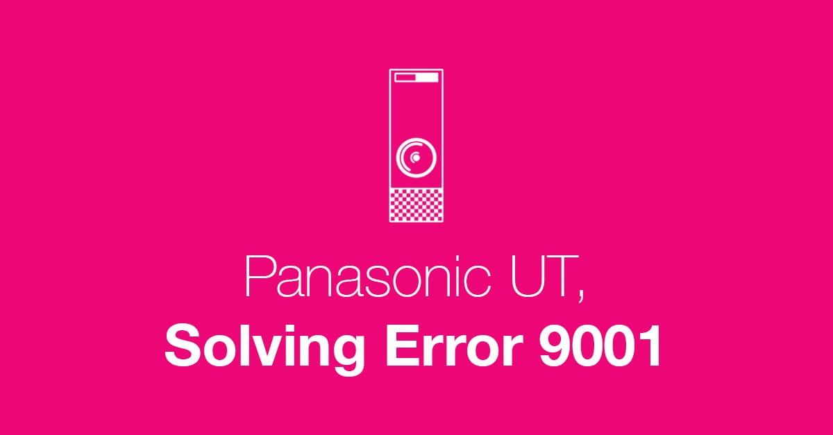 Panasonic Error 90001